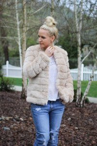 Purely Chic Faux Fur Jacket Forever21