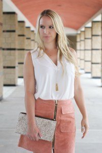 Purely Chic Forever21 Suede Skirt