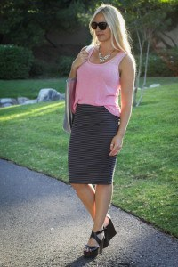Purely Chic Pencil Skirt