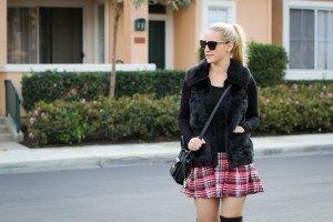 Purely Chic Plaid Skirt