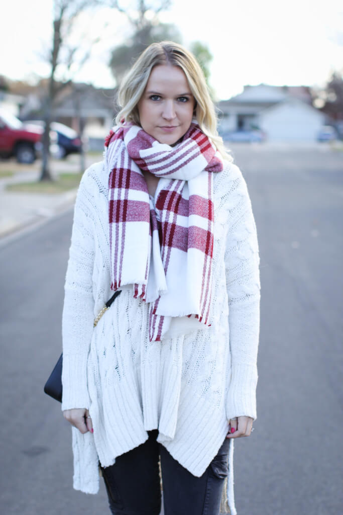 Free People Sweater and Scarf