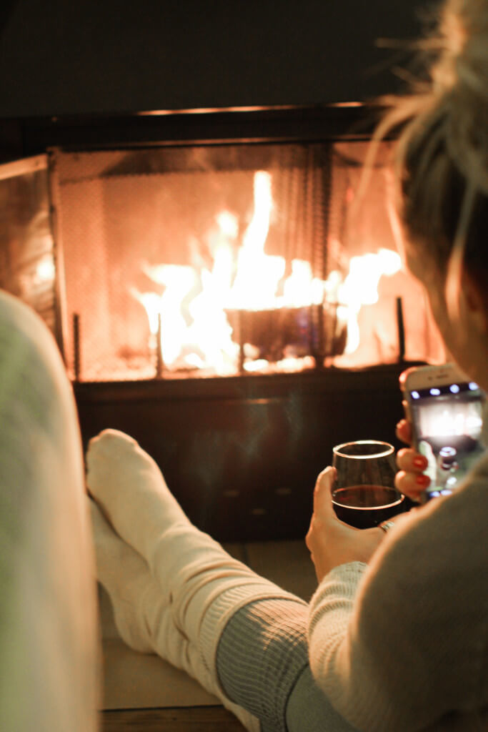 Purely Chic Cozy Fire