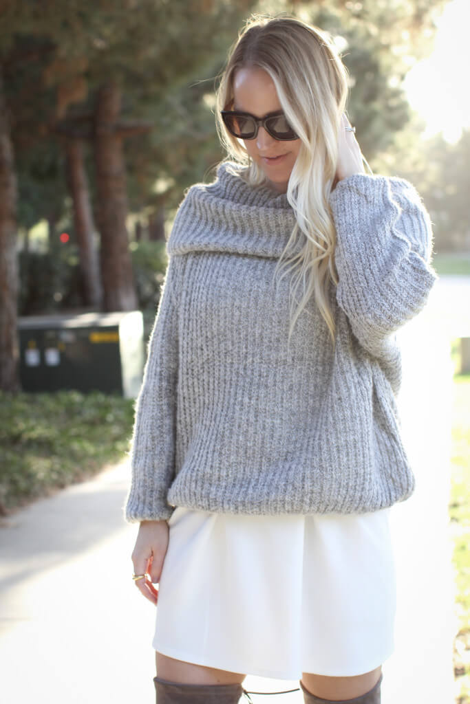 Off the shoulder sweater 1466